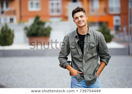 jóvenes · elegante · negro · hombres · hombre · negro · realizar - foto stock © iko
