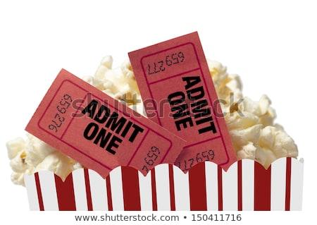 pipoca · filme · bilhetes · caixa · cinema · saco - foto stock © dehooks