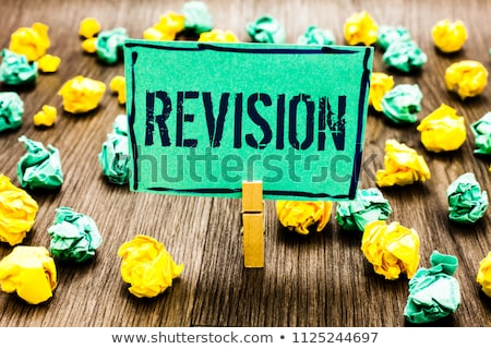 Revision notes Stock photo © trgowanlock