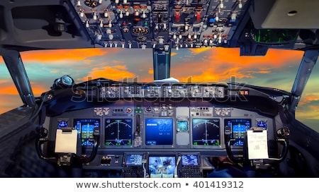 à · l'intérieur · avion · cockpit · Voyage · écran · machine - photo stock © rtimages