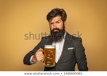Beer man menu Stock photo © sahua