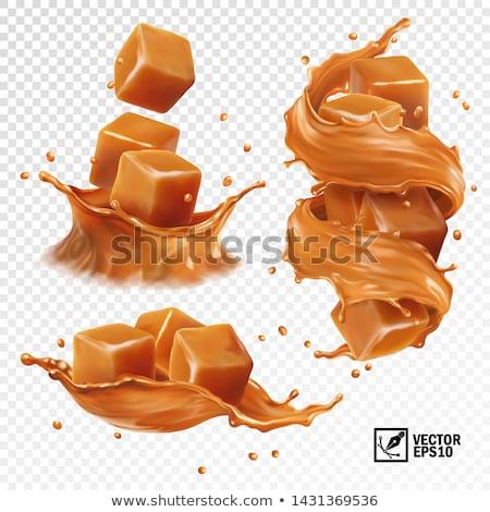 abstrato · caramelo · completo · tela · luz · fundo - foto stock © hofmeester