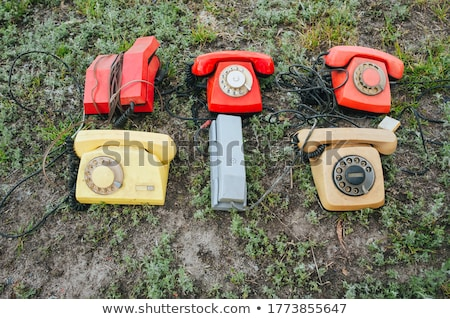 Retro styled rotary telephone on grass Stock photo © AndreyKr