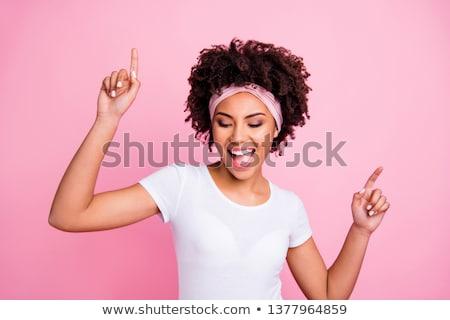 фото · красоту · брюнетка · Lady · женщину · улыбка - Сток-фото © konradbak