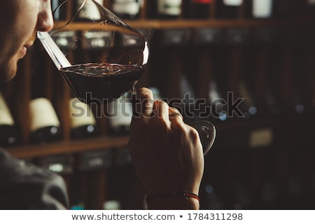 Man smelling red wine Stock photo © photography33