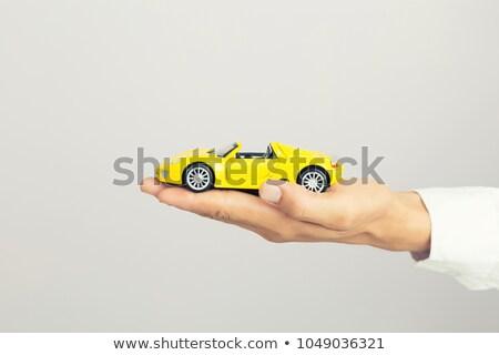 mujer · manos · azul · coche · aislado - foto stock © inxti