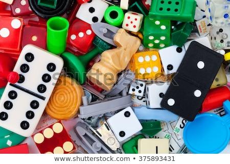 Checkers Board Game background Stock photo © ozaiachin