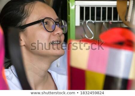 Fiatal szőke nő üzletasszony idősebb férfi üzlet Stock fotó © photography33