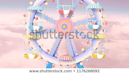 Ferris wheel against blue sky stock photo © bbbar