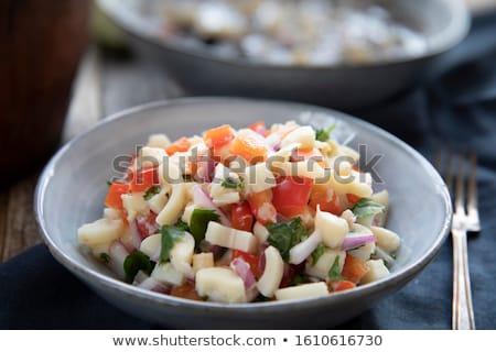 Salada coração tomates metáfora saudável nutrição Foto stock © photosil