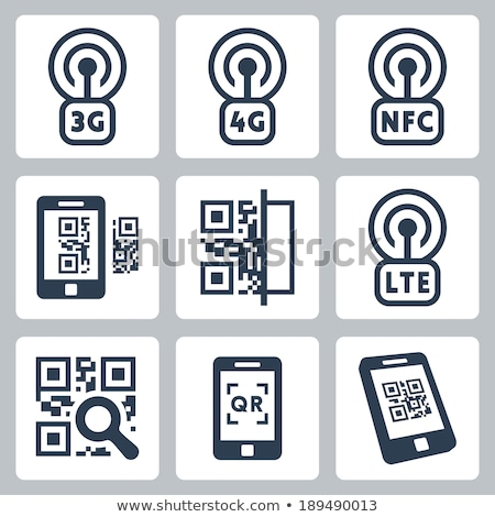 3d magnifier and qr code Stock photo © nasirkhan