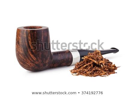 Tabacco pipe isolato bianco nero retro Foto d'archivio © ozaiachin