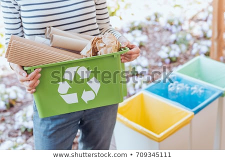 Woman sorting the recycling Stock photo © photography33