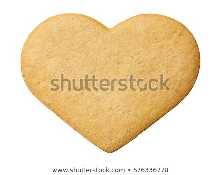 Coeur pain d'épice cookies refroidissement rack Photo stock © danielgilbey