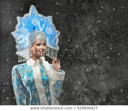 Portrait of a beautiful Snow Maiden Stock photo © acidgrey