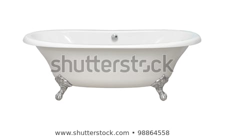 Vintage bathtub isolated with clipping path included Stock photo © ozaiachin