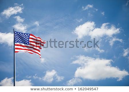 Foto stock: Bandeira · americana · fundo · bandeira · estrela · branco · país