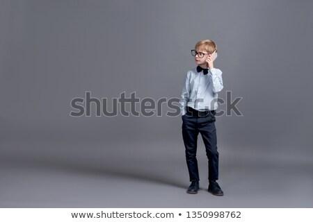 ビジネスマン 座って デスク ペース 孤立した ストックフォト © ra2studio