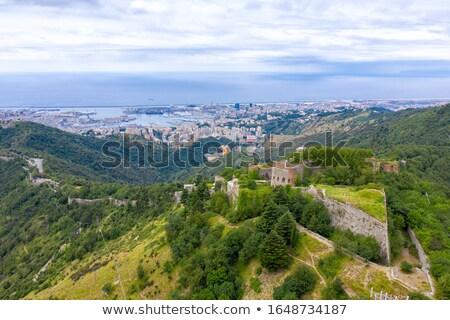 Takviye İtalya ortaçağ tepeler gökyüzü doğa Stok fotoğraf © Antonio-S