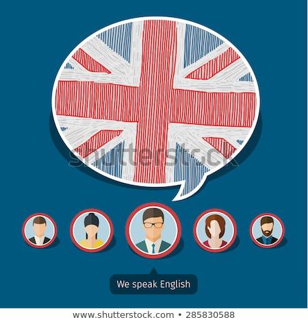 British Flag speech bubble background Stock photo © ikopylov