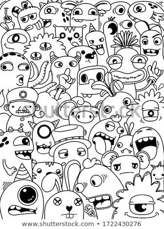 doodle monster set Stock photo © Genestro