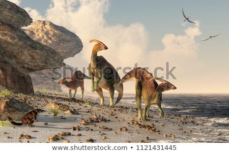Dinoszaurusz part jelenet kettő dinoszauruszok 3d render Stock fotó © AlienCat