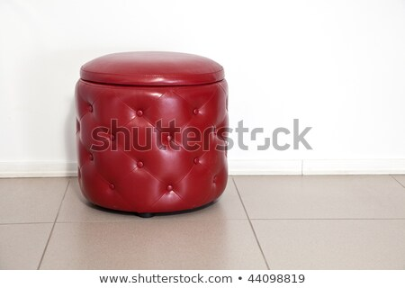 red leather foot stool ottoman Stock photo © ozaiachin