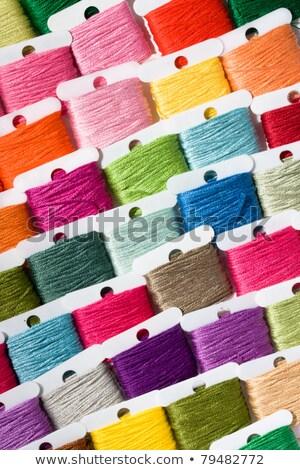 çok renkli pamuk gökkuşağı renk dikiş giyim Stok fotoğraf © julian_fletcher