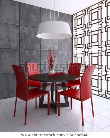arancione · interior · design · scena · moderno · divano · lampada - foto d'archivio © elenarts