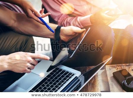 бизнесмен цифровой таблетка портрет зрелый белый Сток-фото © wavebreak_media