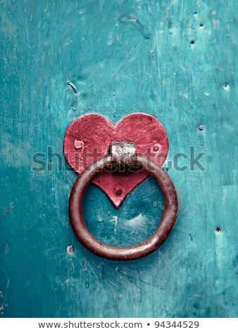 amor · vermelho · romance · trancar · forma · de · coração · ponte - foto stock © inxti
