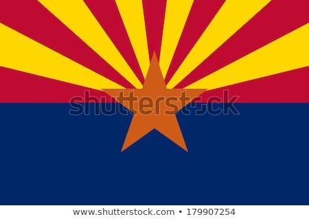 Zászló Arizona vidék föld Amerika szalag Stock fotó © joggi2002
