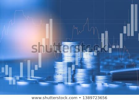 Financieren diagram 3d render afbeelding business scherm Stockfoto © ixstudio