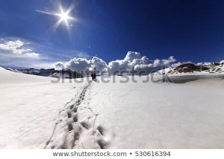 Туристов снега плато Турция центральный гор Сток-фото © BSANI