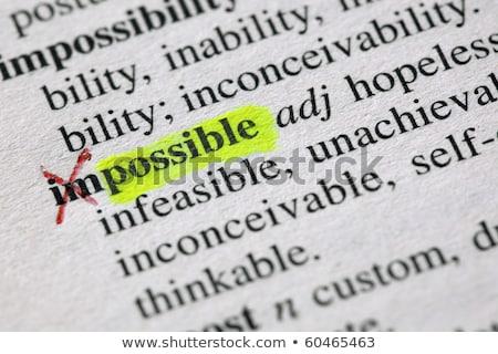 Lehetséges szó lehetetlen szótár nyomtatott siker Stock fotó © sqback