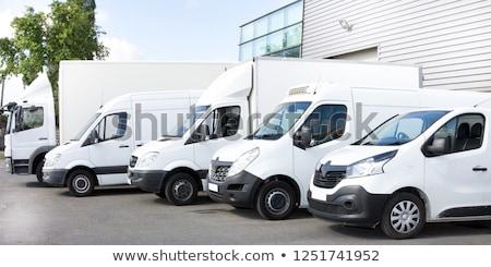 Commerciële voertuig studio licht business industrie Stockfoto © Supertrooper