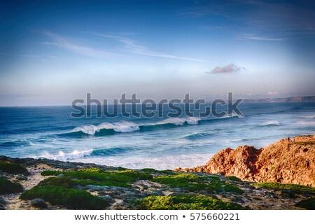 Stok fotoğraf: Deniz · görmek · Portekiz · su · bulutlar · gün · batımı