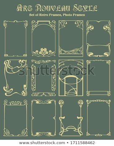 abstrato · sem · costura · art · noveau · padrão · ilustração - foto stock © krisdog