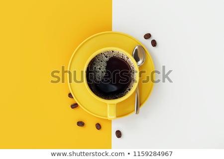 朝食 新鮮な ブラックコーヒー クロワッサン 桜 ホーム ストックフォト © neirfy
