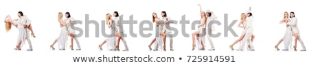 Pair of dancers isolated on the white Stock photo © Elnur