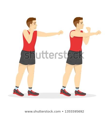 bokser · man · oefening · geïsoleerd · witte - stockfoto © stepstock