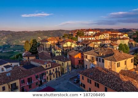 Italian houses. Diano D'Alba, Italy. Stock photo © rglinsky77