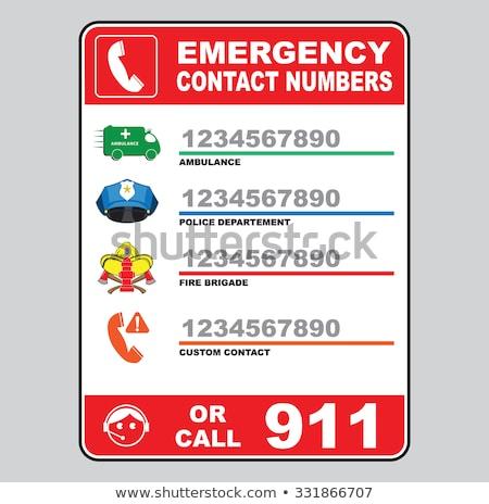 Emergencia teléfono número 911 servicios de emergencia Foto stock © cosma