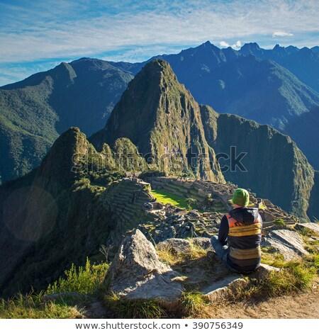 Self portrait in Machu Picchu, Peru Stock photo © jirivondrous