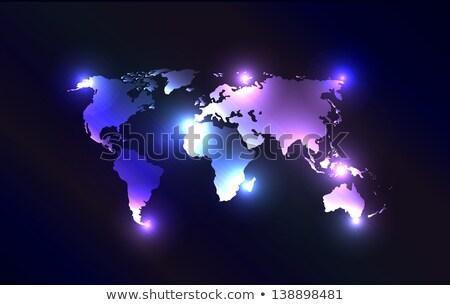terre · illustration · espace · lumière · étoiles - photo stock © harlekino