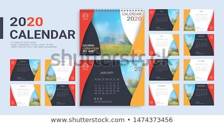 Reclame desktop kalender Rood woord witte Stockfoto © tashatuvango