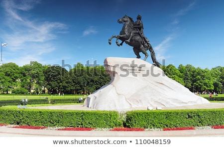 Caballo estatua primer plano blanco ciudad Foto stock © cosma
