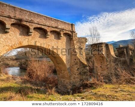 The ancient bridge at Ponte Novu, Corsica Stock photo © Joningall