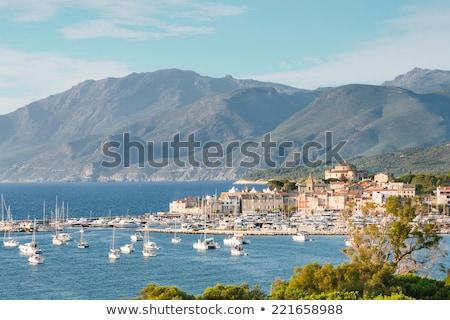 Korsyka miasta budynku słońce Zdjęcia stock © Joningall
