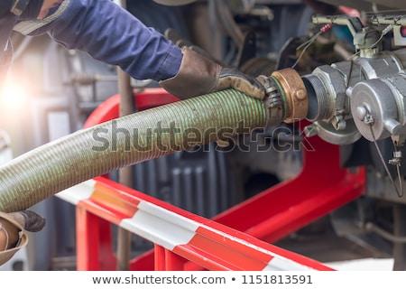 vrachtwagen · asfalt · bouw · mannen · werken · weg - stockfoto © ultrapro